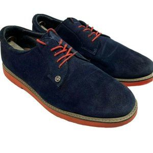 RARE G/Fore Gallivanter Blue Red Suede Golf Shoes